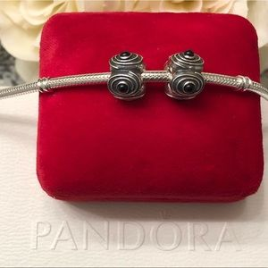 2 Authentic PANDORA Stoppers / Clips / Spacers